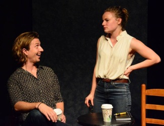 Brian Bacchus Kennedy and Madison Worthington in Shaving Bees photo by Colin Hussey